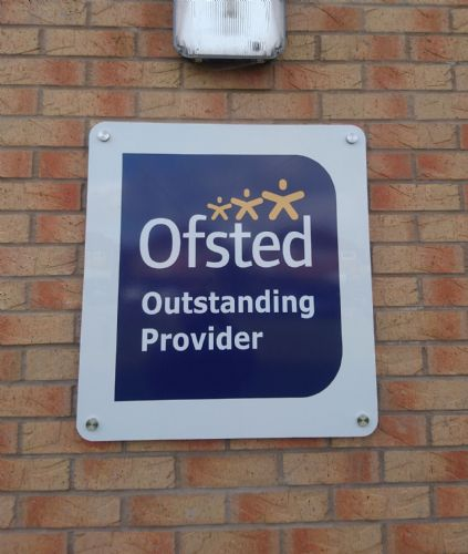 Ofsted Outstanding Wall sign